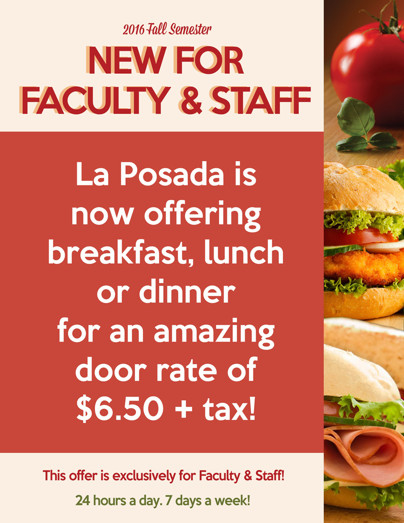 Dining Options for Faculty and Staff